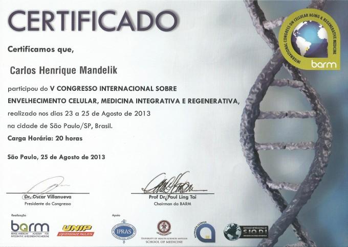 V Congresso Internacional sobre Envelhecimento Celular, Medicin