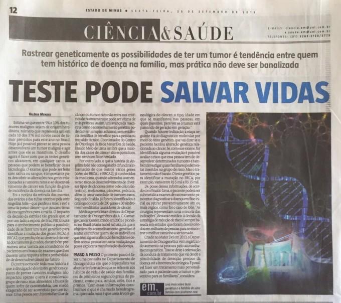 Teste Genético para Cancer
